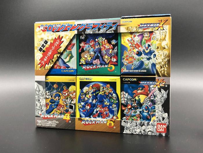 1995年BANDAI洛克人涂鸦盒蛋 - 金银限定版